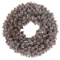 Pinecone wreath Ø25cm with glitter