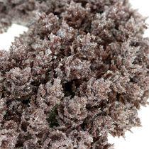 Pinecone wreath Ø25cm with glitter