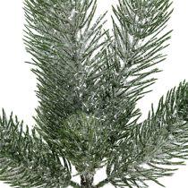 Fir branch green iced 30cm 3pcs