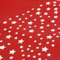 Carrying bag red with stars 38cm x 46cm 24pcs