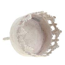 Tealight holder cream antique Ø5cm H10cm 1p