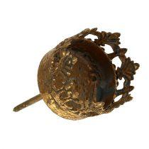 Tealight holder gold antique Ø3.8cm H9.5cm 1p
