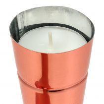 Tealight holder Ø4,5cm H25cm copper 4pcs
