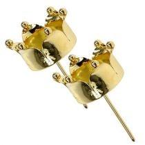 Tealight holder crown gold Ø4.8cm 4pcs