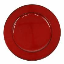 Deco plate red / black Ø22cm