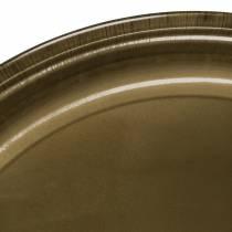 Decorative plate made of metal bronze with glaze effect Ø50cm