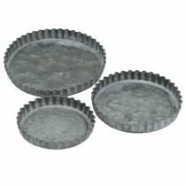 Decorative plate baking mold set zinc Ø7.8–11.5cm H1.3cm
