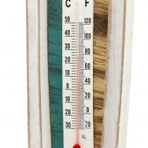 Thermometer in wooden boat shape for hanging 46cm 1pc