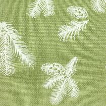 Tablecloth with fir pattern green 20cm 5m