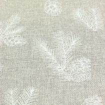 Tablecloth with fir motive gray 20cm 5m