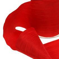Table Ribbon Red Crash 100mm 15m