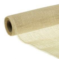 Table runner jute ribbon bleached 30cm 5m