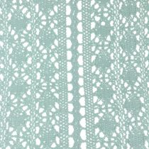 Table runner Crochet lace Mint green 30cm x 140cm