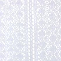 Table Runner Crochet Lace White 30cm x 140cm