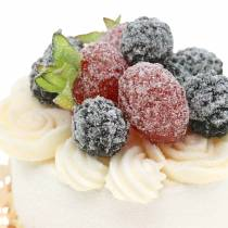 Decorative cupcake blackberry food replica 7cm