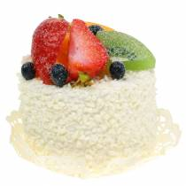 Decorative tartlet with fruits strawberry dummy food 7cm