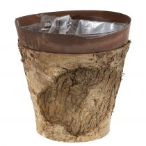 Pot with birch and metal Ø17,5cm H16,5cm 1pc