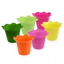 Plastic pot flower Ø6,5cm 25pcs