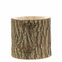 Plant pot elm wood Ø11-13cm H11cm