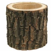 Plant pot elm wood Ø16-18cm H15cm