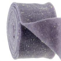 Potband felt tape purple with dots 15cm x 5m
