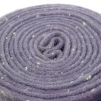 Potband felt tape purple with dots 15cm x 5m