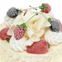 Cream cake with berries artificial Ø15cm H11.5cm