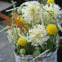 Drumstick Craspedia Yellow Artificial Garden Flower Silk Flowers 15pcs