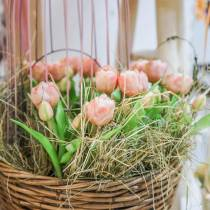 Tulip Bunch Real Touch, Artificial Flowers, Artificial Tulips Pink