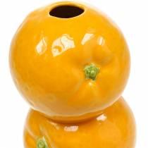 Vase of oranges decoration vase ceramic summer decoration citrus fruit flower vase