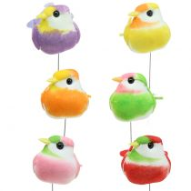Birds on the wire colorful 8cm 12pcs