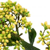 Viburnum berry branch 54cm yellow 4pcs