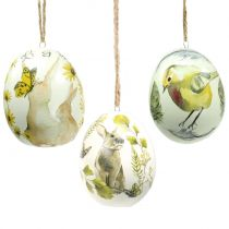 Vintage Easter eggs for hanging 7cm 3pcs