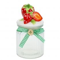 Storage Jar with Lid Strawberry 14.5cm