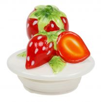 Storage jar with lid strawberry 14.5cm