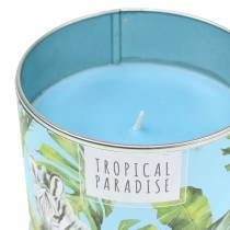 Scented candle in a can Rainforest Blue Ø9.5cm H8cm