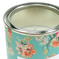Scented candle vanilla in flower box Ø6,5cm