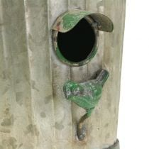Deco birdhouse for hanging antique green H26cm