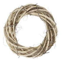 Wicker wreath with branches nature Ø30cm