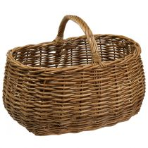 Wicker Basket Oval 48cm x 34cm H25cm