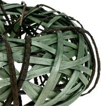 Wicker wreath small green Ø28cm