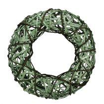 Wicker wreath medium green Ø33cm