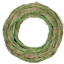 Bast wreath with willow nature/green Ø40cm
