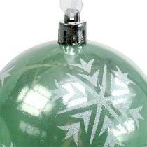 Christmas ball Ø8cm light green plastic 1pc