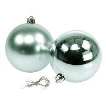 Christmas ball breakfest light green assorted Ø10cm 4pcs