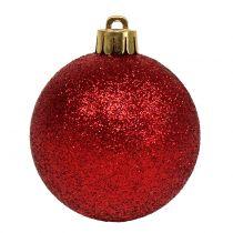 Christmas Ball Mix assorted Red Ø3,5cm - Ø5,5cm 30pcs
