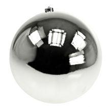 Christmas ball plastic large silver Ø25cm