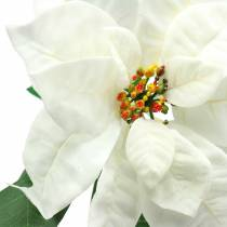 Poinsettia artificial flower white 67cm