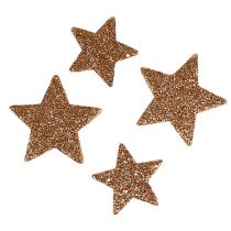 Christmas stars copper glitter stars sprinkle decoration 40p