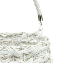 Lantern Basket Ø18cm H43cm White